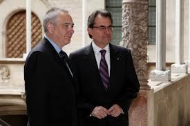 Artur Mas y Pere Navarro en la Generalitat