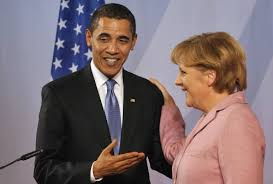Barack Obama y Angela Merkel en Berlín