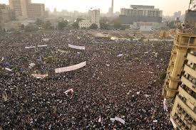 Cientos de miles de manifestantes en Egipto