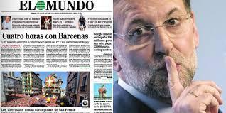 El Mundo contra Rajoy a través de Bárcenas