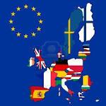 Un mapa de la Unión Europea