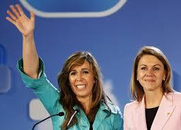 Alícia Sánchez Camacho y Dolores de Cospedal en un acto electoral