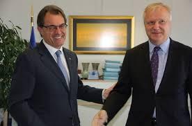 Artur Mas con el vicepresidente económico de la Comisión, Olli Rehn