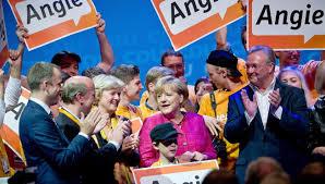 Ángela Merkel en campaña electoral