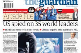 Portada del The Guardian sobre 35 lideres espiados