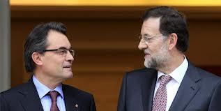 Artur Mas y Mariano rajoy en un encuentro en La Moncloa