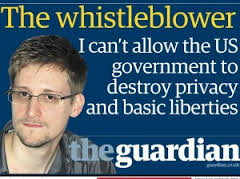 Edward Snowden en la portada del The Guardian