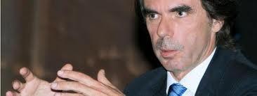 José María Aznar en una de sus intervenciones.