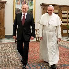 Vladimir Putin en una recent trobada amb el Papa Francsesc al Vaticà