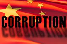 La bandera china manchada por la corrupción