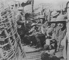 Aspecto de las trincheras en la Gran Guerra