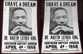 Anuncio del discurso que iba a pronunciar Martin King en Memphis el dia que fue asesinado