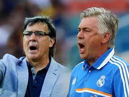 Martino y Ancelotti en una foto de archivo