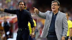 Simeone y Martino en el último choque Atlético Madrid-Barça