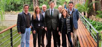 Mariano Rajoy amb els seus a Barcelona