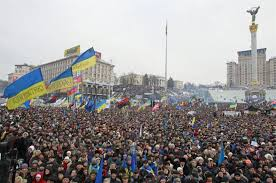 Manifestación en Kiev en contra del gobierno