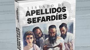 Libro sobre el listado de apellidos sefardíes