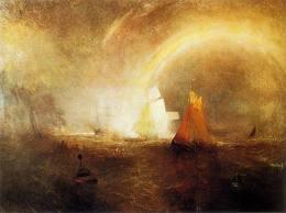 Cuadro de Turner sobre una tormenta marítima
