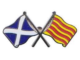 Banderas de Escocia y Catalunya