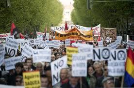Multitudinaria manifestación en Madrid