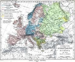 Mapa europeo según las fronteras de 1900