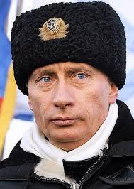 Una imatge de Putin amb gorra militar