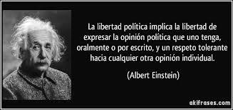 Albert Einstein escribió sobre la libertad
