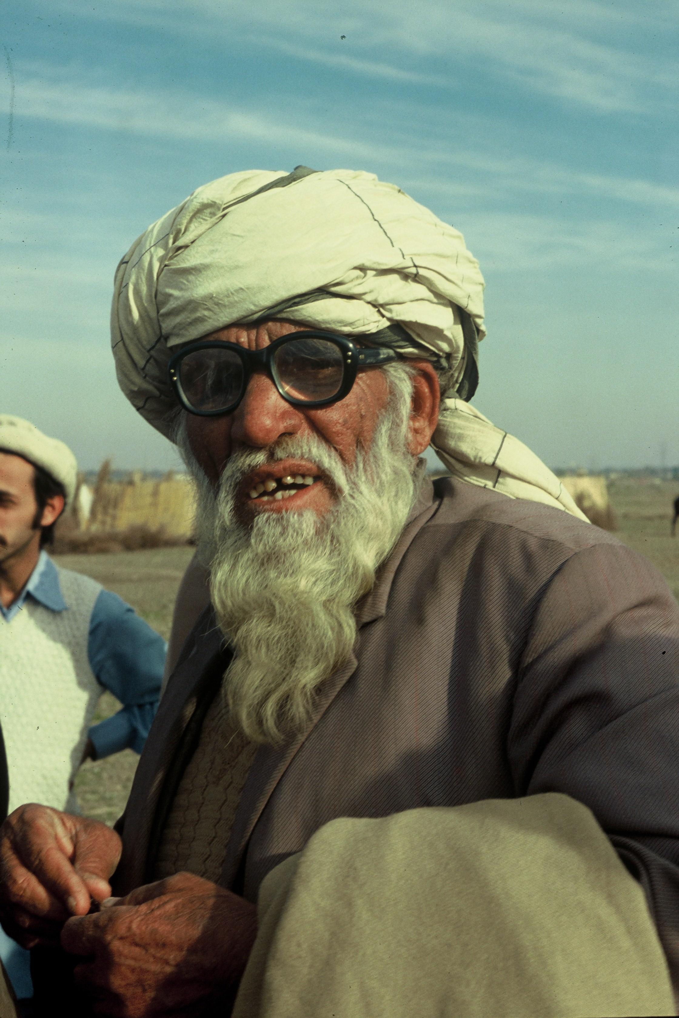 Un jefe de tribu afgano en el paso de Kyber en 1979