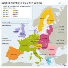 Mapa de la Unión Europea