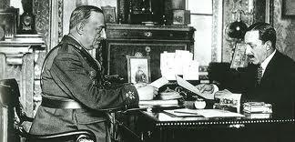 Alfonso XIII y el general Primo de Rivera