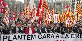 Gran manifestación en las calles de Barcelona
