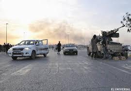 Imágenes de las luchas en las cercanías de Mosul
