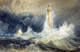 Cuadro de William Turner sobre una tormenta que azota un faro