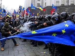 Manifestaciones en Kiev a favor y en contra de Europa
