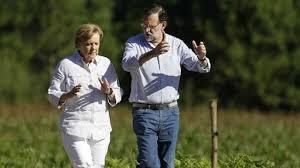 Breve peregrinaje de Rajoy y Merkel en las cercanías de Compostela
