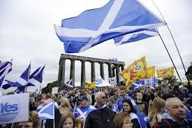 Manifestació dels partidaris del Si abans del 18 de setembre a Edimburg