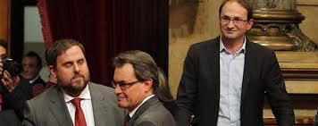 Artur Mas, Oriol Junqueras y Joan Herrera en una sesión del Parlament