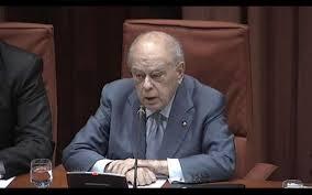Jordi Pujol en la comparecencia en el Parlament