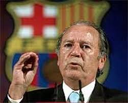 Josep Lluís Núñez en el último tramo de su mandato