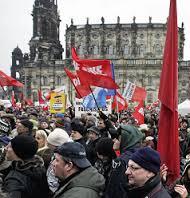 Manifestación en Dresden en contra de los inmigrantes musulmanes
