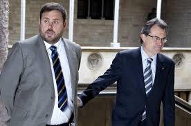 El president Artur Mas i Oriol Junqueras en una de les moltes trobades recents.
