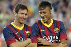 Buena sintonía entre Messi y Neymar