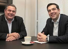 Alex Tsipras y Panos Kamenos, una extraña coalición en Atenas