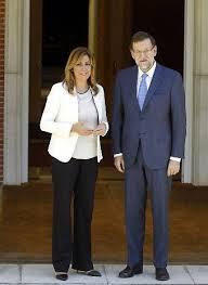 Mariano Rajoy y Susana Díaz en La Moncloa