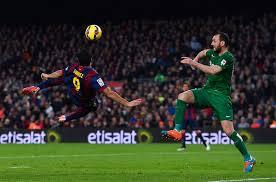 El gol de chilena de Luis Suárez ante el Levante