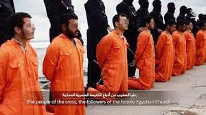 Cristianos coptos a punto de ser asesinados por la Yihad Islámica en Libia