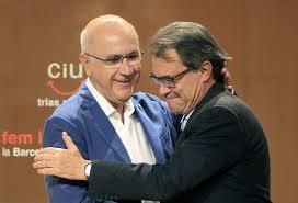 El president Artur Mas i Josep Antoni Duran Lleida