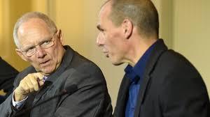 Schäuble y Varoufakis, ministros de financias de Alemania y Grecia