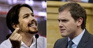 Pablo Iglesias i Albert Ribera, nous actors polítics