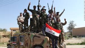 Soldados iraquíes en la toma de la ciudad de Tikrit, ocupada por el Estado Islámico